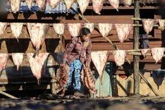 ASIA MYANMAR MYEIK DRY FISH PRODUCTION Royalty Free Stock Photography