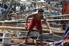 ASIA MYANMAR MYEIK JETTY HARBOUR Stock Images