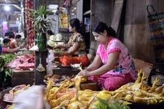 ASIA MYANMAR MYEIK MARKET Stock Images