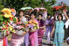 ASIA MYANMAR MYEIK SHINPYU CEREMONY Royalty Free Stock Photos