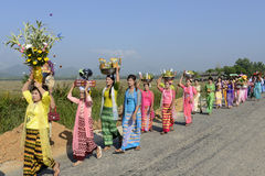 ASIA MYANMAR MYEIK SHINPYU CEREMONY Royalty Free Stock Images