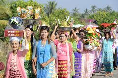 ASIA MYANMAR MYEIK SHINPYU CEREMONY Stock Photography