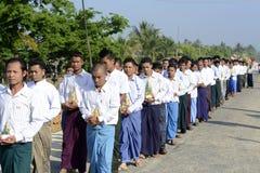 ASIA MYANMAR MYEIK SHINPYU CEREMONY Royalty Free Stock Photography