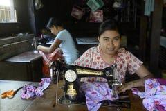 ASIA MYANMAR MYEIK TEXTIL PRODUCTION Royalty Free Stock Photos