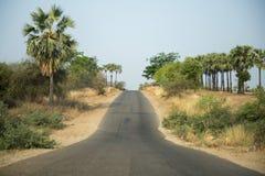 ASIA MYANMAR MYINGYAN ROAD LANDSCAPE Royalty Free Stock Photos