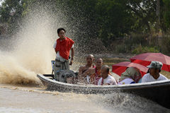ASIA MYANMAR NYAUNGSHWE BOAT TAXI Stock Photography