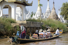 ASIA MYANMAR NYAUNGSHWE BOAT TAXI Royalty Free Stock Photography
