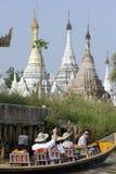 ASIA MYANMAR NYAUNGSHWE BOAT TAXI Stock Image