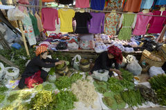 ASIA MYANMAR NYAUNGSHWE INLE LAKE MARKET Royalty Free Stock Photo