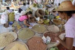 ASIA MYANMAR NYAUNGSHWE INLE LAKE MARKET Royalty Free Stock Images