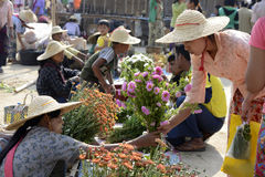 ASIA MYANMAR NYAUNGSHWE  MARKET Stock Photo