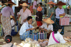 ASIA MYANMAR NYAUNGSHWE  MARKET Royalty Free Stock Image