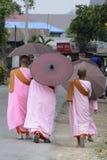 ASIA MYANMAR NYAUNGSHWE NUN Royalty Free Stock Image