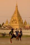 ASIA MYANMAR NYAUNGSHWE SOCCER FOOTBALL Royalty Free Stock Photography