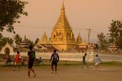 ASIA MYANMAR NYAUNGSHWE SOCCER FOOTBALL Royalty Free Stock Photo