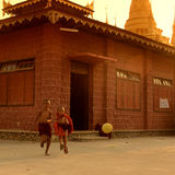 ASIA MYANMAR NYAUNGSHWE SOCCER FOOTBALL Stock Images