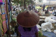 ASIA MYANMAR NYAUNGSHWE WEAVING FACTORY Royalty Free Stock Photo