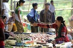 ASIA MYANMAR NYAUNGSHWE WEAVING FACTORY Stock Image