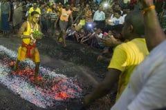 ASIA MYANMAR YANGON FIRE WALK FESTIVAL Royalty Free Stock Photos
