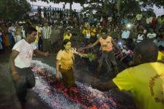 ASIA MYANMAR YANGON FIRE WALK FESTIVAL Stock Photos