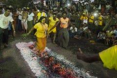 ASIA MYANMAR YANGON FIRE WALK FESTIVAL Stock Images