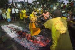 ASIA MYANMAR YANGON FIRE WALK FESTIVAL Stock Photography