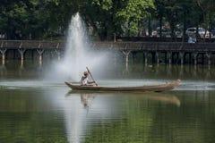 ASIA MYANMAR YANGON KANDAWGYI LAKE PARK Royalty Free Stock Photo