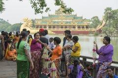 ASIA MYANMAR YANGON KANDAWGYI LAKE RESTAURANT KARAWEIK Stock Image