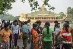 ASIA MYANMAR YANGON KANDAWGYI LAKE RESTAURANT KARAWEIK Royalty Free Stock Image
