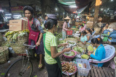 ASIA MYANMAR YANGON MARKET BETEL LEAFES Royalty Free Stock Image