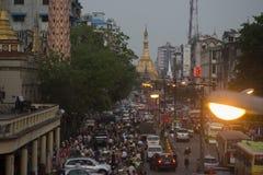ASIA MYANMAR YANGON SULE PAYA PAGODA Stock Image