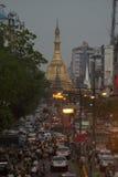 ASIA MYANMAR YANGON SULE PAYA PAGODA Royalty Free Stock Image