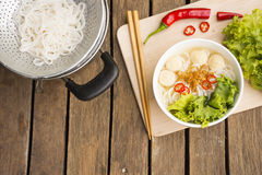 Free Asia Noodles.wooden Background Asia Noodles,on Wooden Background.Vietnam Noodles. Stock Photography - 71889832