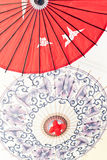 Asia Oil-paper umbrella. Oil-paper umbrella is a kind of paper umbrella originated in China Stock Photo