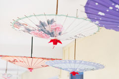 Asia Oil-paper umbrella. Oil-paper umbrella is a kind of paper umbrella originated in China Stock Photography
