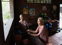 Asia old woman, Vietnamese elderly Royalty Free Stock Image