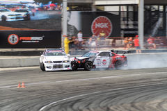 Asia Pacific D1 Primring Grand Prix 2015 Russian. ARTEM RUSSIAN - SEPTEMBER 20 :  car battlesn in Asia Pacific D1 Primring Grand Prix 2015 Russian Drift Series Royalty Free Stock Photography