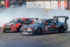 Asia Pacific D1 Primring Grand Prix 2015 Russian. ARTEM RUSSIAN - SEPTEMBER 20 :  car battlesn in Asia Pacific D1 Primring Grand Prix 2015 Russian Drift Series Stock Images