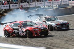 Asia Pacific D1 Primring Grand Prix 2015 Russian. ARTEM RUSSIAN - SEPTEMBER 20 :  car battlesn in Asia Pacific D1 Primring Grand Prix 2015 Russian Drift Series Royalty Free Stock Images
