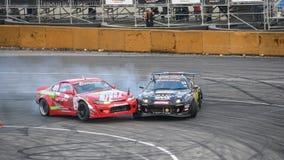 Asia Pacific D1 Primring Grand Prix 2015 Russian. ARTEM RUSSIAN - SEPTEMBER 20 :  car battlesn in Asia Pacific D1 Primring Grand Prix 2015 Russian Drift Series Royalty Free Stock Photo
