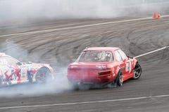 Asia Pacific D1  Primring Grand Prix 2015 Russian Drift Series. ARTEM RUSSIAN - SEPTEMBER 20 :  car battles in Asia Pacific D1  Primring Grand Prix 2015 Russian Stock Images