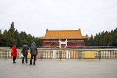 Asia parque de China, Pekín, Zhongshan, arquitectura de paisaje, shejitan Foto de archivo