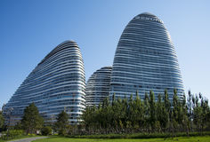 In Asia, Pechino, Cina, architettura moderna, SOHO di Wangjing Immagini Stock