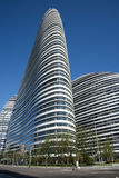 In Asia, Pechino, Cina, architettura moderna, SOHO di Wangjing Fotografie Stock Libere da Diritti