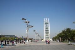 In Asia, Pechino, Cina, torre di Linglong Fotografie Stock