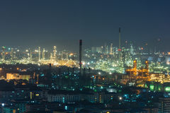 Asia petrochemical industrial plant stock image