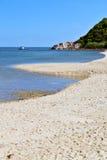 Asia in  phangan bay isle white  beach    rocks pirogue   south Stock Photos