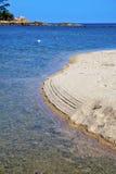 Asia in phangan  isle white  beach    rocks pirogue  and  sea Royalty Free Stock Image