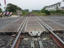 Asia railroad track for train Royalty Free Stock Images