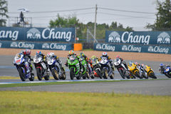Asia Road Racing Championship 2016 Round 6 At Chang International Racing Circuit, Buriram Thailand. Royalty Free Stock Images